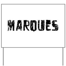 Marques Faded (Black) Yard Sign