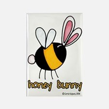 Honey Bunny Rectangle Magnet