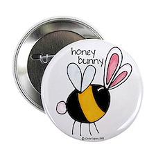 """Honey Bunny 2.25"""" Button"""