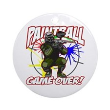 Paint Ball Game Over Ornament (Round)