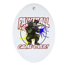 Paint Ball Game Over Oval Ornament