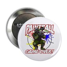 """Paint Ball Game Over 2.25"""" Button (10 pack)"""