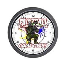 Paintball Game Over Wall Clock