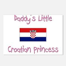 Daddy's little Croatian Princess Postcards (Packag