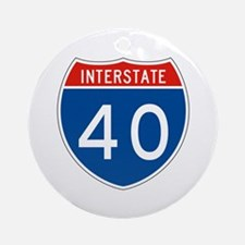 Interstate 40, USA Ornament (Round)