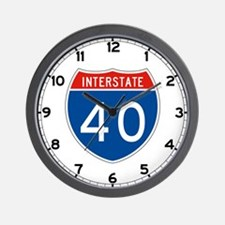 Interstate 40, USA Wall Clock