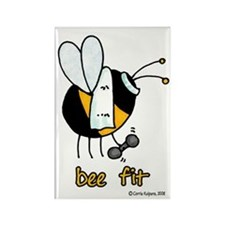 Bee Fit Rectangle Magnet