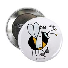 "Bee Fit 2.25"" Button"