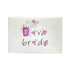 Diva Bride Rectangle Magnet