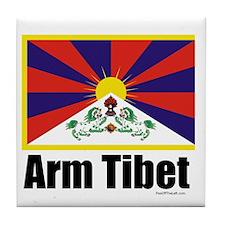 Free Tibet Tile Coaster