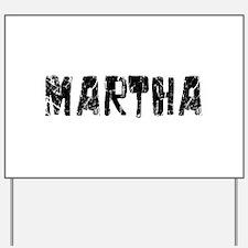 Martha Faded (Black) Yard Sign