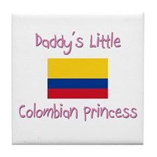 Daddy's little Colombian Princess Tile Coaster