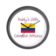 Daddy's little Colombian Princess Wall Clock