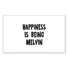 Happiness is being Melvin Rectangle Decal