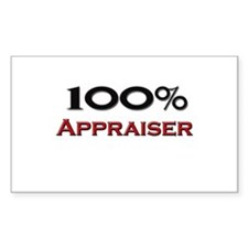 100 Percent Appraiser Rectangle Decal