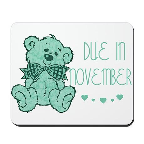 Green Marble Teddy Due November Mousepad