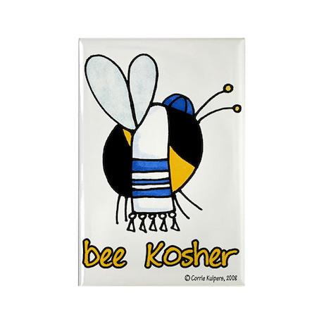 Bee Kosher Rectangle Magnet