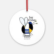 Bee Kosher Ornament (Round)