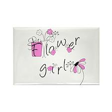 Flowers Flower Girl Rectangle Magnet