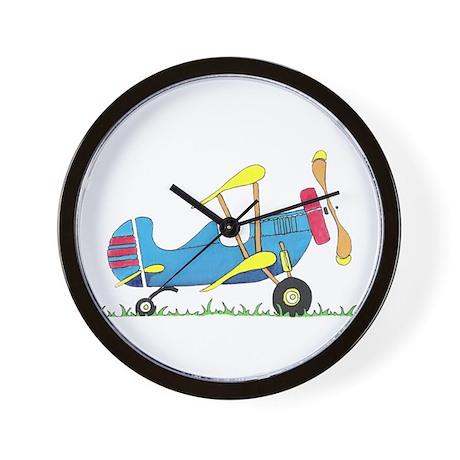 Toy Biplane Wall Clock