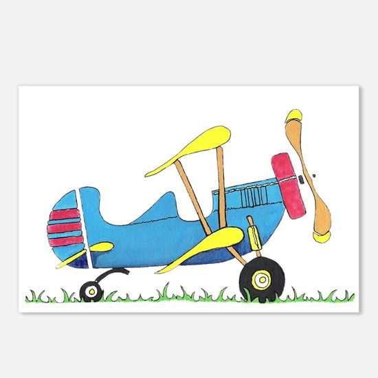 Toy Biplane Postcards (Package of 8)