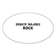 Debate Majors Rock Oval Decal