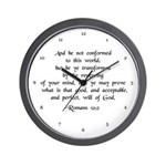 Be Ye Not Conformed Wall Clock