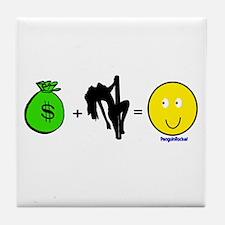 Money Plus Tile Coaster