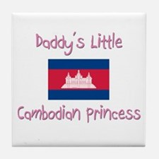 Daddy's little Cambodian Princess Tile Coaster