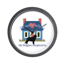 Belgian Shepherd Home Is Wall Clock