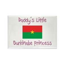 Daddy's little Burkinabe Princess Rectangle Magnet