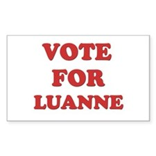 Vote for LUANNE Rectangle Decal