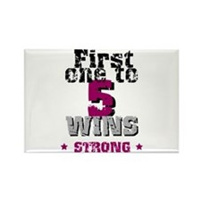 5 Wins Rectangle Magnet