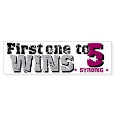 5 Wins Bumper Car Sticker