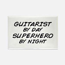 Guitarist Superhero by Night Rectangle Magnet