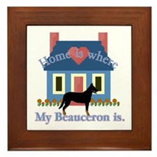 Beauceron Home Is Framed Tile