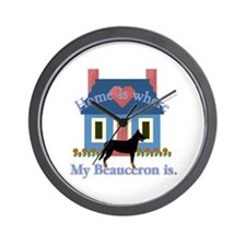 Beauceron Home Is Wall Clock