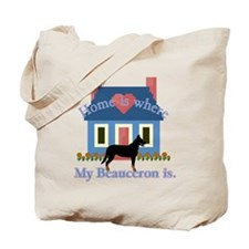 Beauceron Home Is Tote Bag