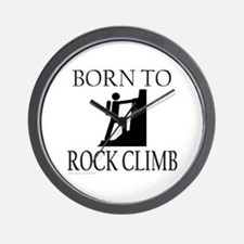 BORN TO ROCK CLIMB Wall Clock