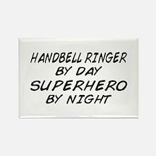 Handbell Superhero by Night Rectangle Magnet