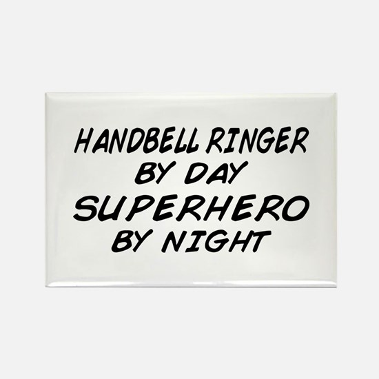 Handbell Superhero by Night Rectangle Magnet