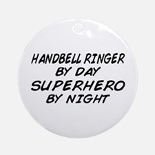 Handbell Superhero by Night Ornament (Round)