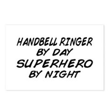 Handbell Superhero by Night Postcards (Package of