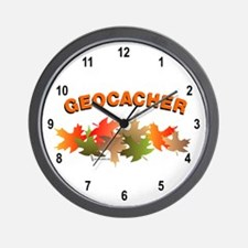 Autumn Geocaching Wall Clock