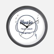 Music never leave home without it Wall Clock