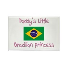 Daddy's little Brazilian Princess Rectangle Magnet