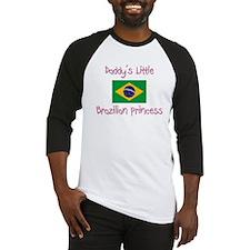 Daddy's little Brazilian Princess Baseball Jersey