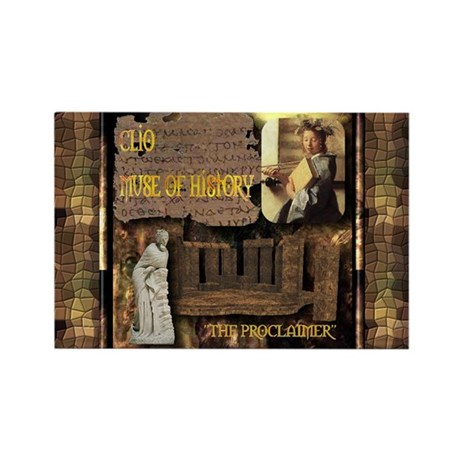 Greek Goddess Clio Rectangle Magnet (10 pack)
