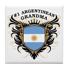 Number One Argentinean Grandma Tile Coaster
