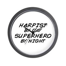 Harpist Superhero Wall Clock